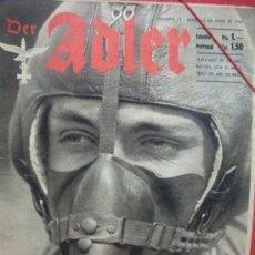 Militaria: + DER ADLER EN ESPAÑOL. REVISTA ALEMANA DE LA SEGUNDA GUERRA MUNDIAL NUMERO 12 - JUNIO 1942. Lote 35488205