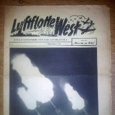 Militaria: REVISTA PROPAGANDA ALEMANA - LUFTFLOTTE WEST (FLOTILLA 3) Nº 13, 1 DE DICIEMBRE DE 1939. Lote 35712512