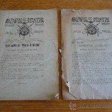Militaria: LOTE 2 REVISTAS DE MEMORIAL DE INFANTERIA, 1922 Y 1924. NUMEROS 129 Y 145. Lote 36145550