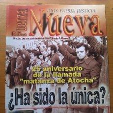 Militaria: REVISTA FUERZA NUEVA. NÚMERO 1.261. 23 FEBRERO 2002. ANIVERSARIO MATANZA DE ATOCHA. ESPAÑA. . Lote 36643104