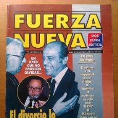 Militaria: REVISTA FUERZA NUEVA. NÚMERO 1.183. 5 ABRIL 1998. DIVORCIO. ESPAÑA. . Lote 36688012