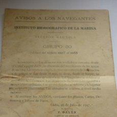 Militaria: REVISTA DE AVISO A LOS NAVEGANTES. Lote 36850543