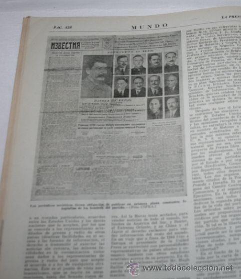 Militaria: REVISTA ANTIGUA - MUNDO 288 - 11 DE NOVIEMBRE DE 1945 - EUROPA NIÑOS EN LA MISERIA - Foto 2 - 36854739