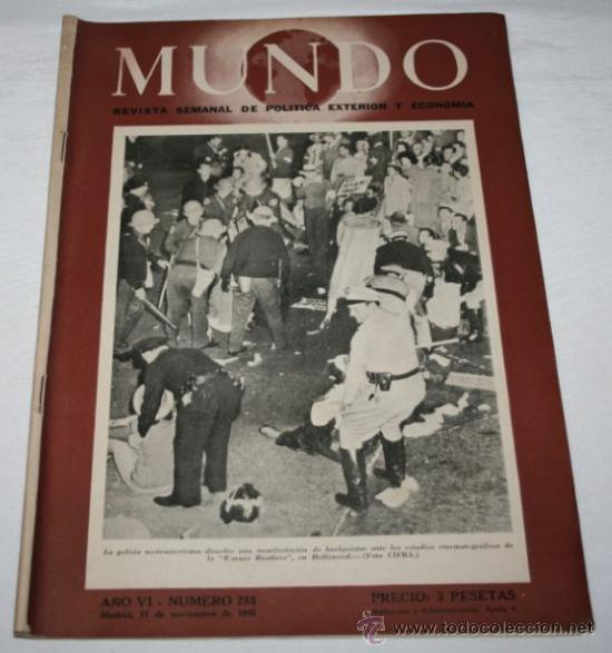 REVISTA ANTIGUA - MUNDO 288 - 11 DE NOVIEMBRE DE 1945 - EUROPA NIÑOS EN LA MISERIA (Militar - Revistas y Periódicos Militares)