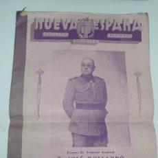 Militaria: RARA REVISTA NUEVA ESPAÑA, 1944, DEDICADA A HEROES GUERRA CIVIL. Lote 36860843