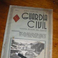 Militaria: GUARDIA CIVIL, REVISTA OFICIAL DEL CUERPO Nº 11, MADRID 1945.. Lote 37257768