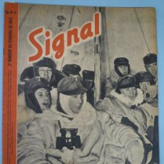 Militaria: REVISTA SIGNAL FBRERO 1942. Lote 37662308