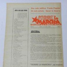 Militaria: SOBRE LA MARCHA, SEMANARIO DE LA 4ª BRIGADA MIXTA, PLENA GUERRA CIVIL, MADRID 15 DE MARZO DE 1937, N. Lote 37724691