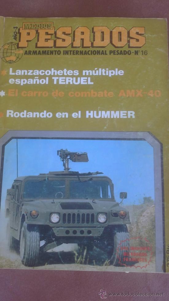REVISTA MEDIOS PESADOS, ARMAMENTO INTERNACIONAL PESADO Nº 16, 1984 (Militar - Revistas y Periódicos Militares)