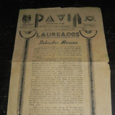 Militaria: PAVIA PORTAVOZ DEL REVGIMIENTO DE INFANTERIA NUMERO 7, AÑO II, NUMERO 40, ALGECIRAS 15 DE SEPTIEMBRE. Lote 38938116