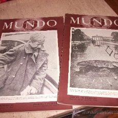 Militaria: LOTE 2 REVISTAS MUNDO NUEVAS 1945 . Lote 39008027
