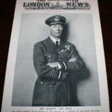Militaria: THE ILLUSTRATED LONDON NEWS - 28/FEBRERO/1942 - PORTADA REY JORGE VI. Lote 39340577