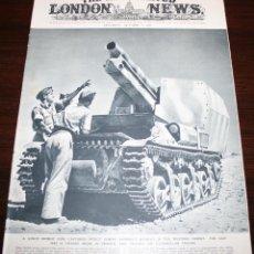 Militaria: THE ILLUSTRATED LONDON NEWS - 3/OCTUBRE/1942 - PORTADA TANQUE ALEMÁN CAPTURADO. Lote 39340762