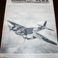 Militaria: THE ILLUSTRATED LONDON NEWS - 31/OCTUBRE/1942 - PORTADA, AVIÓN MOSQUITO. Lote 39346997