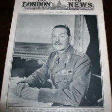 Militaria: THE ILLUSTRATED LONDON NEWS - 14/NOVIEMBRE/1942 - PORTADA,GENERAL HAROLD ALEXANDER. Lote 39347086