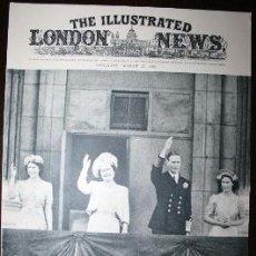 Militaria: THE ILLUSTRATED LONDON NEWS - 25/AGOSTO/1945 - PORTADA, LA FAMILIA REAL DE GRAN BRETAÑA. Lote 39348321