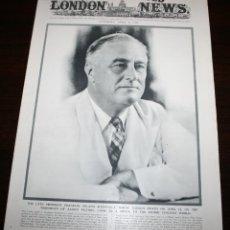 Militaria: THE ILLUSTRATED LONDON NEWS - 21/ABRIL/1945 - PORTADA, ROOSEVELT. Lote 39362151