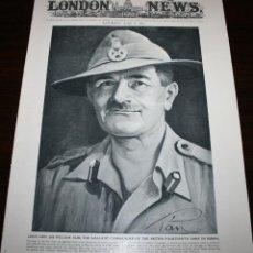 Militaria: THE ILLUSTRATED LONDON NEWS - 9/JUNIO/1945 - PORTADA, GENERAL WILLIAM SLIM. Lote 39362252