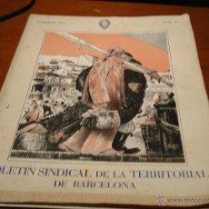 Militaria: REVISTA FALANGE REVISTA SINDICAL DE LA TERRITORIAL DE BARCELONA. Lote 39601880