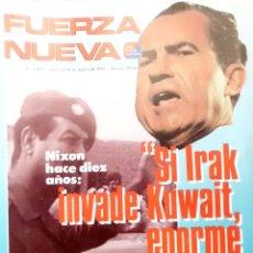 Militaria: REVISTA DE FUERZA NUEVA - MARZO 1991. Lote 39608307