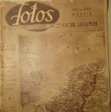 Militaria: REVISTA FOTOS - SEMANARIO GRÁFICO - Nº 167 - 11 DE MAYO DE 1940. SEGUNDA GUERRA MUNDIAL.. Lote 40055547