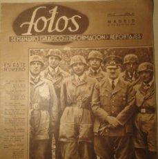 Militaria: REVISTA FOTOS - SEMANARIO GRÁFICO - Nº 169 - 25 DE MAYO DE 1940. SEGUNDA GUERRA MUNDIAL.. Lote 40055592