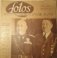 Militaria: REVISTA FOTOS - SEMANARIO GRÁFICO - Nº 173 - 22 DE JUNIO DE 1940. SEGUNDA GUERRA MUNDIAL.. Lote 40055630
