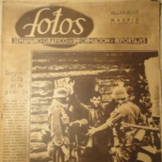 Militaria: REVISTA FOTOS - SEMANARIO GRÁFICO - Nº 232 - 9 DE AGOSTO DE 1941. SEGUNDA GUERRA MUNDIAL.. Lote 40055742