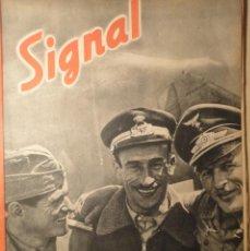 Militaria: REVISTA SIGNAL SP Nº13 - 1ER NUMERO JULIO 1942. Lote 40056456