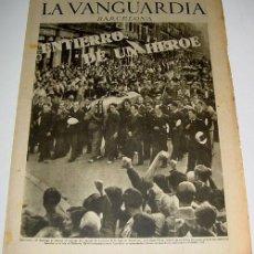 Militaria: LA VANGUARDIA AÑO 1936 - GUERRA CIVIL - 4 PAG - 1 DE SEPTIEMBRE DE 1936 - MUCHAS FOTOS - VISTO DESDE. Lote 38242161