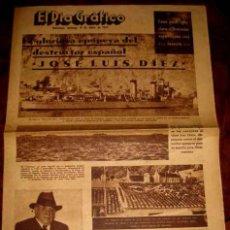 Militaria: ANTIGUO PERIODICO PLENA GUERRA CIVIL . EL DIA GRAFICO - 8 DE ENERO 1939 - LA GLORIOSA EPOPEYA DEL DE. Lote 38251326
