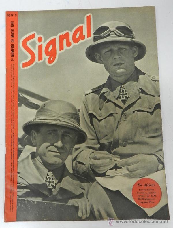 ANTIGUA REVISTA SIGNAL, 1ER NUMERO DE MAYO DE 1941, TIENE 46 PAGINAS, POSTER CENTRAL A COLOR, TAMAÑO (Militar - Revistas y Periódicos Militares)