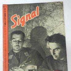 Militaria: ANTIGUA REVISTA SIGNAL, 1ER NUMERO DE SEPTIEMBRE DE 1941, TIENE 46 PAGINAS, POSTER CENTRAL A COLOR, . Lote 38284727