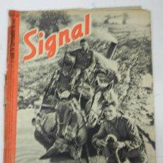 Militaria: ANTIGUA REVISTA SIGNAL, 2º NUMERO DE SEPTIEMBRE DE 1941, TIENE 46 PAGINAS, POSTER CENTRAL A COLOR, T. Lote 38284728