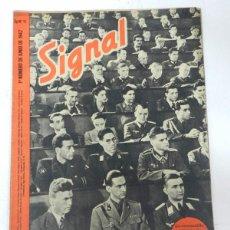 Militaria: ANTIGUA REVISTA SIGNAL, 1ER NUMERO DE JUNIO DE 1942, TIENE 46 PAGINAS, POSTER CENTRAL A COLOR, TAMAÑ. Lote 45304929
