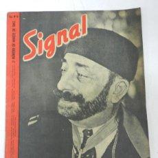 Militaria: ANTIGUA REVISTA SIGNAL, 2º NUMERO DE MARZO DE 1943, TIENE 38 PAGINAS, POSTER CENTRAL A COLOR, TAMAÑO. Lote 38284735