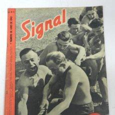 Militaria: ESCUADRILLA AZUL, ANTIGUA REVISTA SIGNAL, 1ER NUMERO DE JUNIO DE 1943, TIENE 38 PAGINAS, POSTER CENT. Lote 38284739
