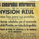 Militaria: RECORTE PERIÓDICO, LA DIVISION AZUL, LAS CAMARADAS ENFERMERAS, 38 X 13. Lote 40568906