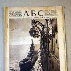Militaria: DIARIO ILUSTRADO, PERIODICO, ABC, 1943, ESCENAS DE LA GUERRA EN EL MAR, SUBMARINO. Lote 41200837