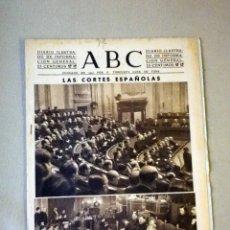Militaria: DIARIO ILUSTRADO, PERIODICO, ABC, 1943, LAS CORTES ESPAÑOLAS. Lote 41201372
