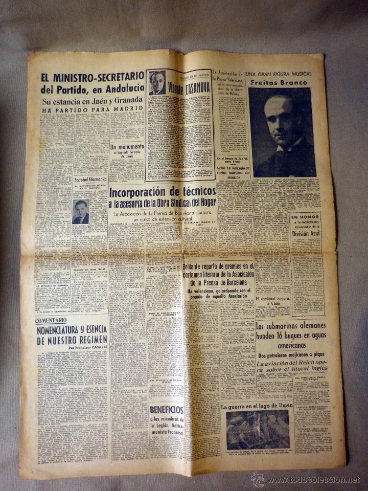 Militaria: PERIODICO, HOJA DEL LUNES, 1942, DERROTA SOVIETICA EN ILMEN, HEROICA PARTICIPACION, DIVISION AZUL - Foto 4 - 41202849