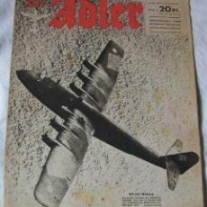 Militaria: REVISTA LUFTWAFFE DER ADLER Nº 6 DE 1944 !! EDICION ALEMANA III REICH ALEMANIA . Lote 41743792
