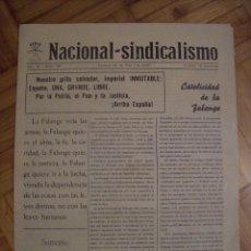 Militaria: PERIODICO NACIONAL SINDICALISMO BURGOS 23 DE MAYO DE 1937. Lote 42181885