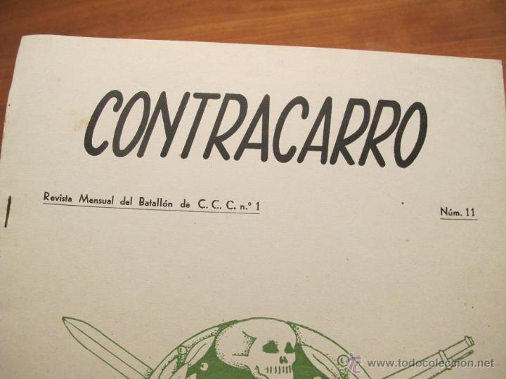 Militaria: REVISTA CONTRACARRO Nº 11 - REVISTA MENSUAL DEL BATALLON DE C.C.C. Nº1- BARCELONA -AÑO 1956. R-2099 - Foto 2 - 42289814