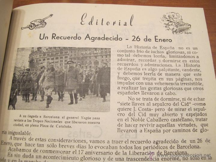 Militaria: REVISTA CONTRACARRO Nº 11 - REVISTA MENSUAL DEL BATALLON DE C.C.C. Nº1- BARCELONA -AÑO 1956. R-2099 - Foto 5 - 42289814