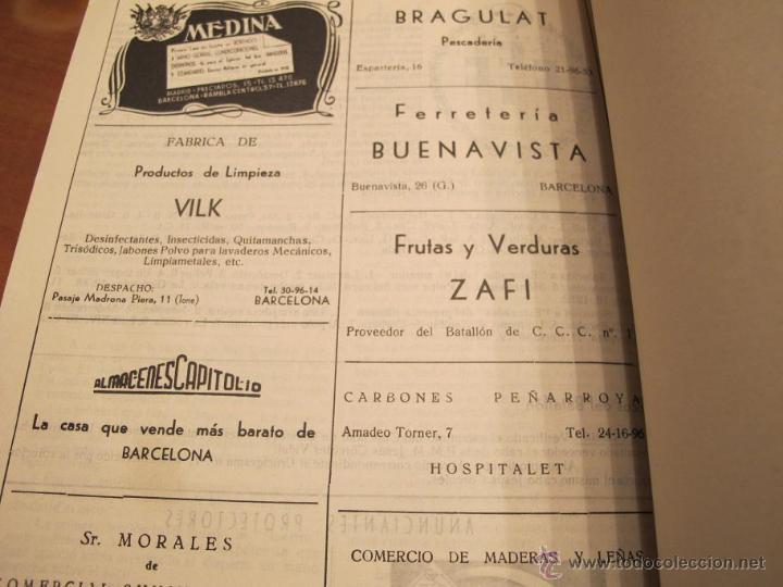 Militaria: REVISTA CONTRACARRO Nº 11 - REVISTA MENSUAL DEL BATALLON DE C.C.C. Nº1- BARCELONA -AÑO 1956. R-2099 - Foto 6 - 42289814