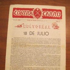 Militaria - REVISTA CONTRACARRO Nº 4 - REVISTA MENSUAL DEL BATALLON DE C.C.C. Nº1 BARCELONA - AÑO 1955. R-2097 - 42289847