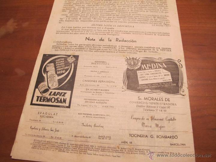 Militaria: REVISTA CONTRACARRO Nº 4 - REVISTA MENSUAL DEL BATALLON DE C.C.C. Nº1 BARCELONA - AÑO 1955. R-2097 - Foto 4 - 42289847