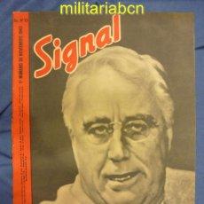 Militaria: ALEMANIA III REICH. REVISTA SIGNAL. EN CASTELLANO. Nº 21 NOVIEMBRE 1943.. Lote 42388464