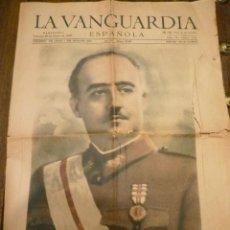 Militaria: LA VANGUARDIA ENERO1940. FRANCO. FALANGE. Lote 42461400